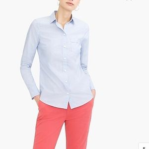 J. Crew Button-up cotton shirt in perfect fit
